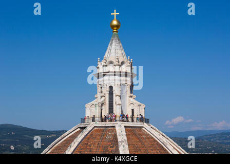 Florence, Florence Province, Tuscany, Italy.  The dome of the Duomo, or cathedral, designed by Brunelleschi. The - Stock Photo
