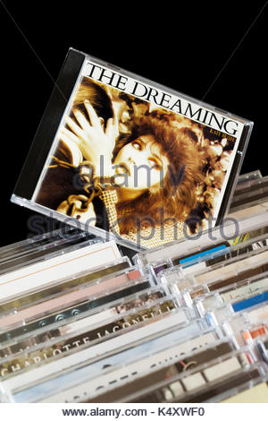 The Dreaming, Kate Bush CD pulled out from among rows of other CD's, Dorset, England - Stock Photo
