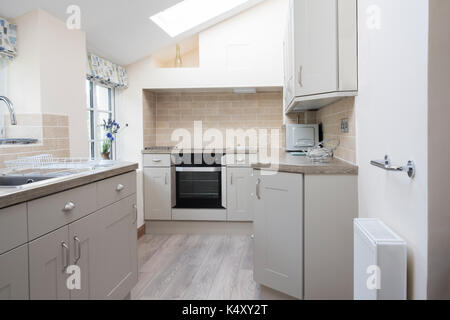 Empty Interior Of Modern Kitchen In Home - Stock Photo