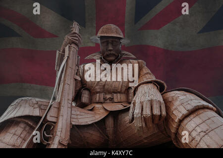Tommy 1101 wold war one memorial - Stock Photo