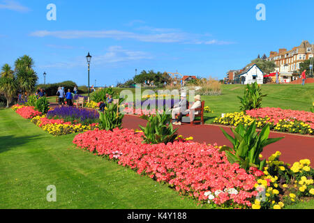 Esplanade Gardens, Marine Parade, Cliff top, Hunstanton, English coastal resort, seaside, Norfolk, England, UK - Stock Photo