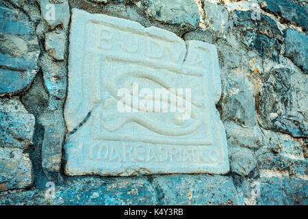 Budva sign - Stock Photo