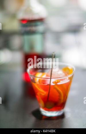 Glass of spritz aperitif, Venice, Italy - Stock Photo