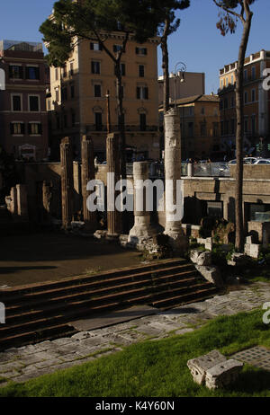 Italy. Rome. Area Sacra di Largo Artenina.  Ruins of the oldest temples in Rome are found. Built in 3rd century - Stock Photo