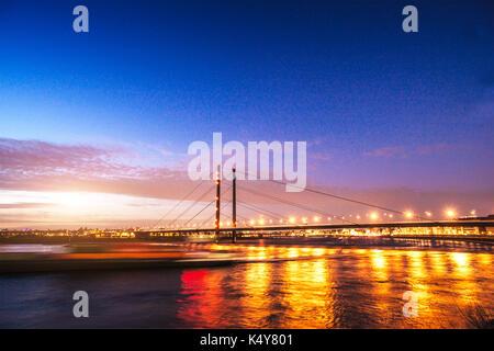 blue sky over night city - Stock Photo