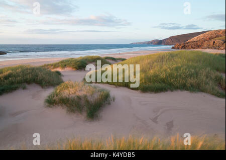 Sand dunes at Sandwood Bay, Sutherland - Stock Photo