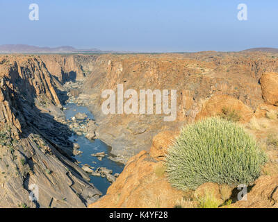 View of the canyon of the River Oranje from Ararat Viewpoint, Augrabies Falls NP, North Cape, South Africa - Stock Photo
