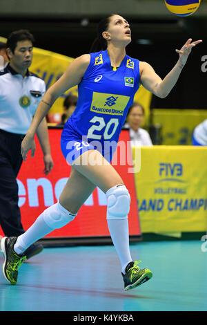 Tokyo, Japan. Credit: MATSUO. 6th Sep, 2017. Ana Beatriz Correa (BRA) Volleyball : FIVB World Grand Champions Cup - Stock Photo