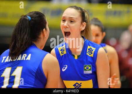 Tokyo, Japan. Credit: MATSUO. 6th Sep, 2017. Roberta Silva Ratzke (BRA) Volleyball : FIVB World Grand Champions - Stock Photo