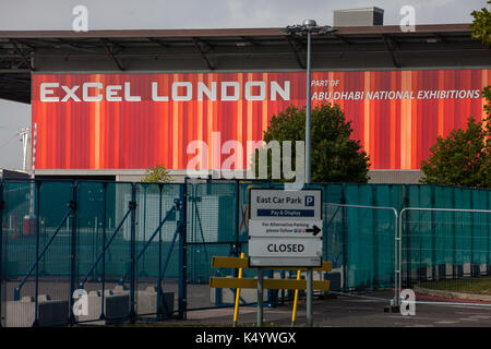 London, UK. 7th Sep, 2017. ExCel London is the venue for next week's DSEI arms fair. Credit: Mark Kerrison/Alamy - Stock Photo