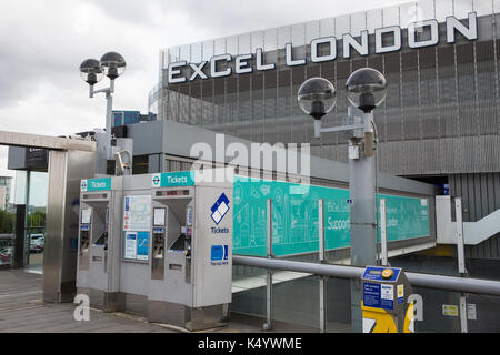 London, UK. 7th Sep, 2017. The ExCel Centre will host the DSEI arms fair next week. Credit: Mark Kerrison/Alamy - Stock Photo