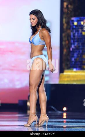 Atlantic City, NJ, USA. 7th Sep, 2017. 07 September 2017 - Atlantic City, NJ- Miss Oklahoma Triana Browne. 2018 - Stock Photo
