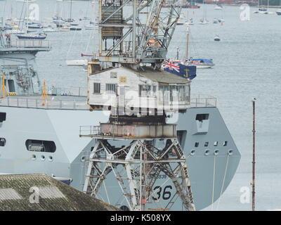 Pendennis shipyard Cornwall UK - Stock Photo