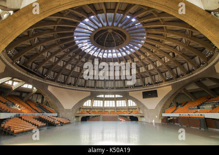 Interior of the Centennial Hall in Wroclaw, Poland. - Stock Photo