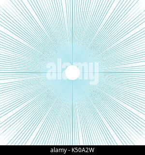 Sunburst background thin blue radial lines vector. - Stock Photo