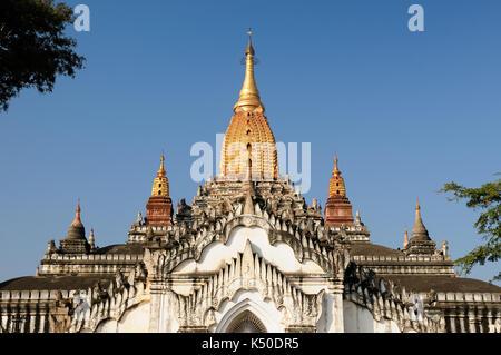 Ananda Pahto Temple in Myanmar (Burma). Old Bagan - Stock Photo
