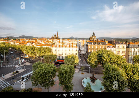 Clermont-Ferrand city in France - Stock Photo