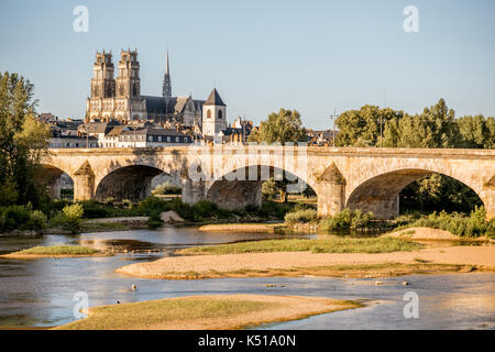 Orleans city in France - Stock Photo