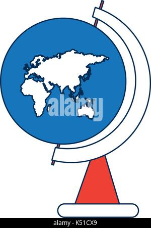 school globe map of europe africa and asia peace world symbol - Stock Photo