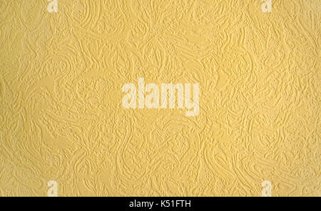 Decorative yellow plaster of a wall Stock Photo: 78356911 - Alamy