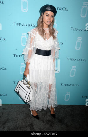 NEW YORK, NY - SEPTEMBER 06: Guest attends the Tiffany & Co. Fragrance launch event on September 6, 2017 in New - Stock Photo