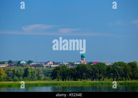 View of church dedicated to St. Cosmas and Damian in Brusyany - Stock Photo