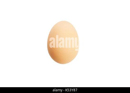 Organic egg isolated on white - Stock Photo