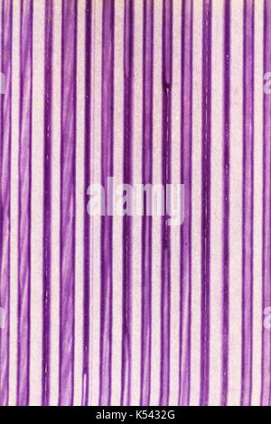 Pink stripes as abstract pattern as aged stained retro paperback as a grunge background image - Stock Photo