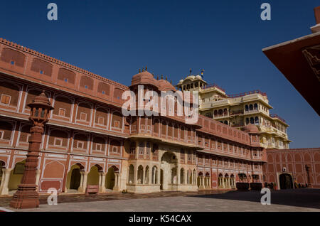 The Chandra Mahal, Jaipur, Rajasthan, India - Stock Photo