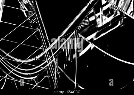 Abstract buildings background with B&W color Stock Photo