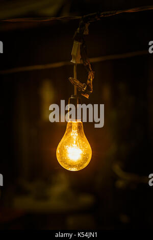 ... lighting hang tungsten light bulb at night. - Stock Photo & decorative antique tungsten light bulbs hanging on ceiling Stock ... azcodes.com