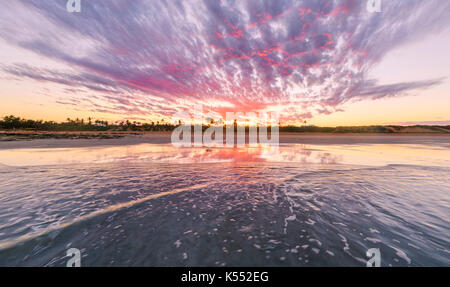 Cable Beach at sunrise. Broome - Stock Photo
