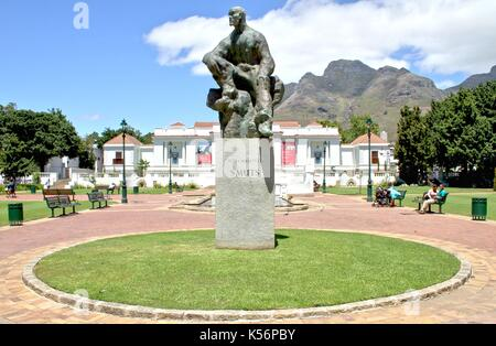 Statue of General Jan Christian Smuts in Cape Town - Stock Photo