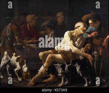 Hendrick ter Brugghen - The Rich Man and the Poor Lazarus - Stock Photo