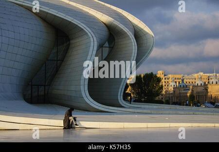 Heydar Aliyev Center in Baku, Azerbaijan - Stock Photo