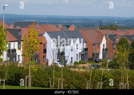 Housing development at Lawley Village, Telford, Shropshire, UK - Stock Photo