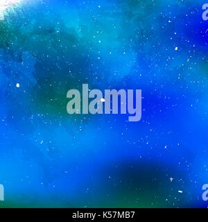 Hand painted watercolor sky and clouds, abstract watercolor background, vector illustration - Stock Photo