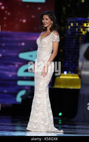Atlantic City, NJ, USA. 8th Sep, 2017. 08 September 2017 - Atlantic City, NJ- Miss Florida Sara Zeng. 2018 Miss - Stock Photo