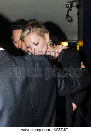 Kate Moss. Kate Moss looked a little tired and spotty as she left Cafe De Paris at 3.30am after taking part in a - Stock Photo