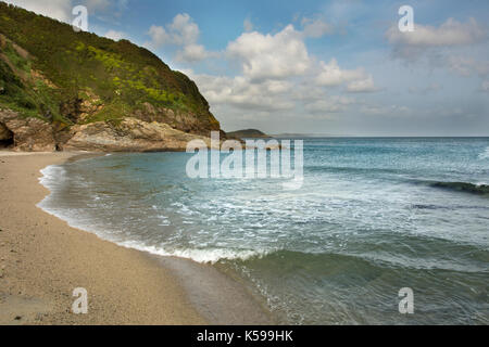 Pentewan sands Cornwall - Stock Photo