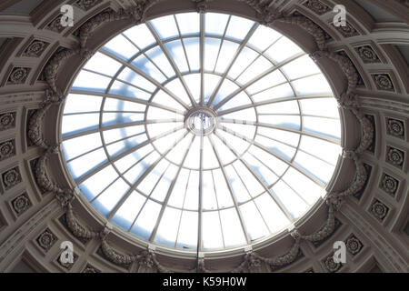 Circular ceiling of the Victoria and Albert Museum, V&A, gallery, London, England - Stock Photo
