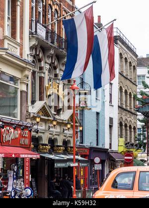 De Hems Dutch Pub in London's Soho entertainment district - Stock Photo