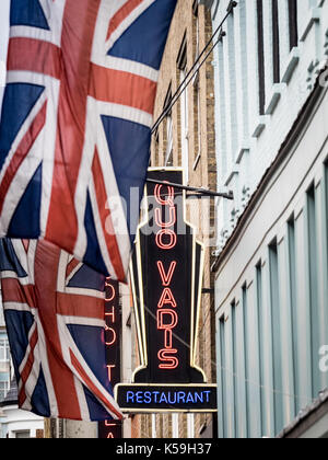 Quo Vadis Soho - Quo Vadis is a historic Soho restaurant and members' club in Dean Street, Soho. The building was - Stock Photo