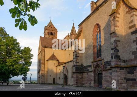 cathedral church Stephansmünster Saint Stephan, Breisach am Rhein, Kaiserstuhl, Baden-Württemberg, Germany - Stock Photo