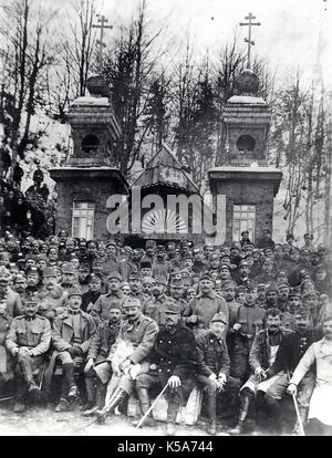 SLOVENIA  Dedication of the Russian Chapel on the Vrsic Pass built by Russian POWs in 1918 - Stock Photo