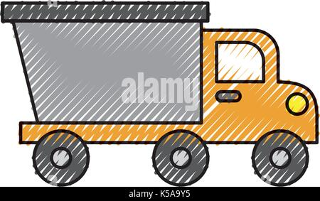 dump truck construction machinery equipment isolated - Stock Photo