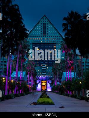 Dolphin Hotel at Walt Disney World in Orlando, FL - Stock Photo