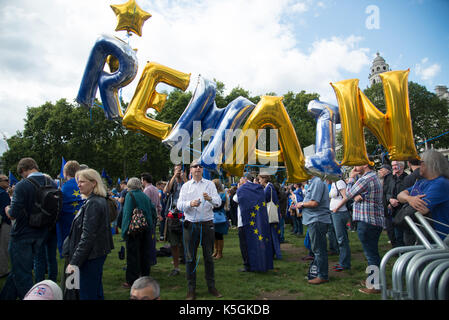 London, UK. 9th September 2017. People's March for Europe - 'Remain'. Credit: A.Bennett - Stock Photo