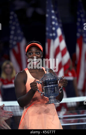 New York, United States. 09th Sep, 2017. US Open Tennis: New York, 9 September, 2017 - Sloane Stephens of the United - Stock Photo
