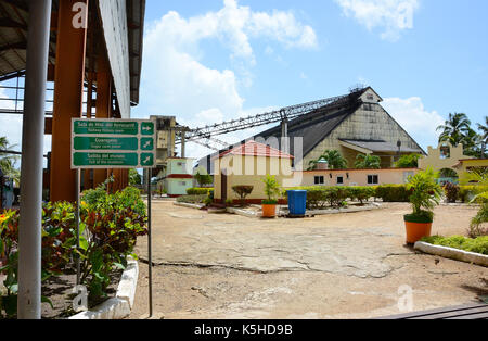 REMEDIOS, CUBA - JULY 27, 2016: The Museum of Sugar Industry and Museum of Steam at Remedios, is an old Cuban sugar - Stock Photo